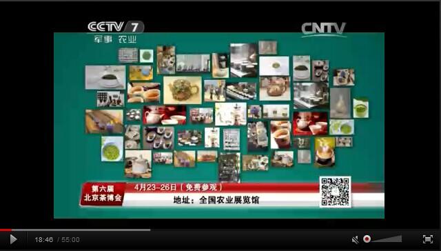 茶博会4月6-20日CCTV7,15秒广告